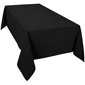 Merveilleux Casual Dining Essentials Black 70 X 108inch (178x 274centimeter) Oblong  (Rectanglular) Tablecloth
