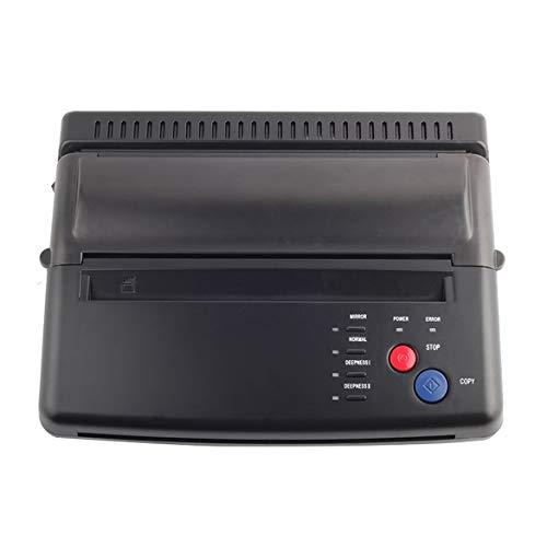 Tattoo Transfer Maschine Drucker Zeichnung Thermal Stencil Maker Kopierer für Tattoo Transfer Papier Versorgung Permanent Make-up (schwarz) - Schwarz-kopierer-maschinen