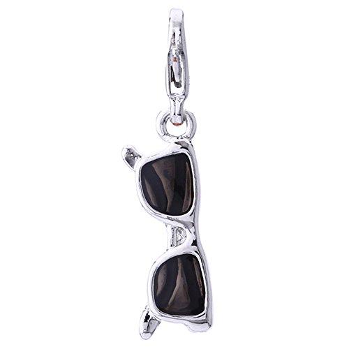 Morella schwarzer Charms Anhänger Sonnenbrille