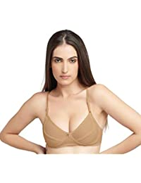 eb548a61a5 DAISY DEE Skin Cotton Wirefree Regular Straps Seamed Non Padded Full  Coverage Bra for Women -