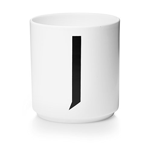 Design Letters - Becher - Buchstabentasse - Buchstabe: J - Porzellan - Arne Jacobsen