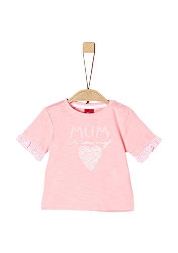 s.Oliver Baby-Mädchen 65.903.32.5465 T-Shirt, Rosa (Light Rose 4136), Herstellergröße: 74