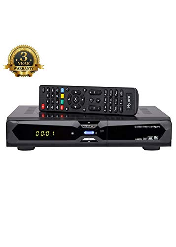 Golden Interstar Hypro 4k Kombo Receiver (DVB-S2, DVB-T2 HEVC 265, DVB-C, Android 5.1, Conax Kartenleser, WiFi on Board, 4X USB, Web & IPTV fähig) Schwarz