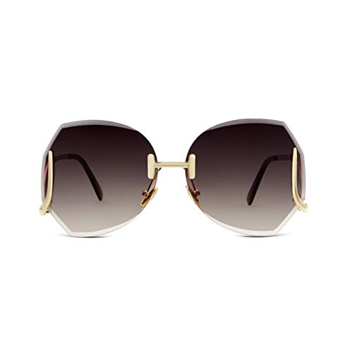 Schnittkante der polygonalen Trend koreanische Version Street Beat Sonnenbrille Persönlichkeit rundes langes Gesicht Sonnenbrille Net rote Brille (Farbe: schwarz)