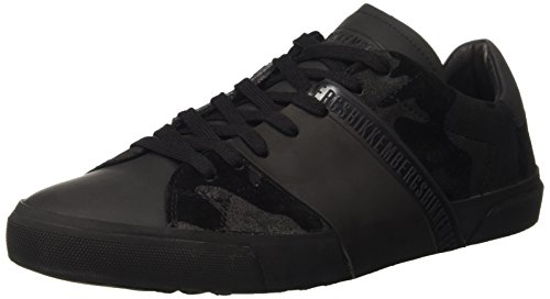 Bikkembergs Rubb-er 748 Low Shoe M Suede, Pompes à plateforme plate homme Noir - Nero (Camouflage Black)