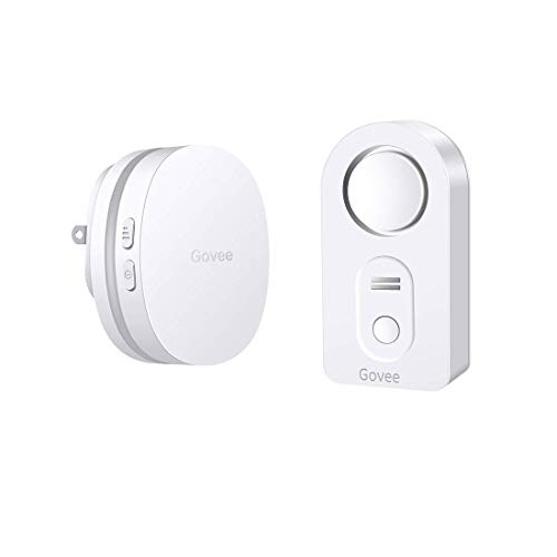 Govee Wasserleck Alarm, WiFi Wasserleck Detektor kabellos Wassersensor und Alarm, Fernüberwachung von Wasser leck mit E-Mail- und App Benachrichtigung für Home Security(5G-WLAN Nicht unterstützt) -