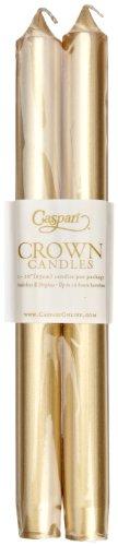 Caspari Entertaining - Vela natural (25,4 cm, 2 unidades), color dorado
