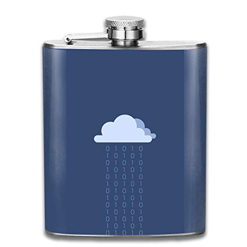 Hüftflaschen Presock, Lonely Cloud Rain Hip Flask for Liquor Stainless Steel Bottle Alcohol 7oz Best Birthday Gift Present for Women Men (Insulated Rain Womens)