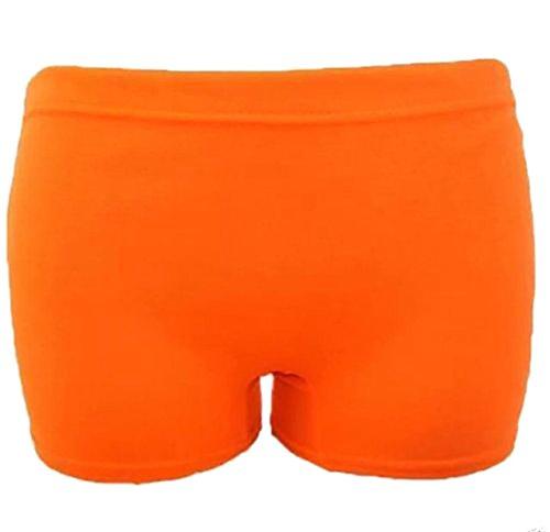 Islander Fashions Kinder Plain Stretchy Neon Hot Pants -