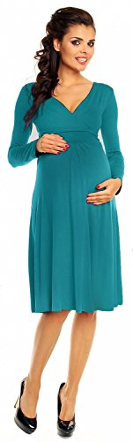 Zeta Ville - abito prémaman - estivo vestito - manica lunga - donna - 890c Acqua