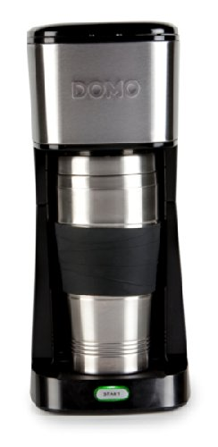 Kaffeemaschine für 400ml Kaffee ToGo im Thermobecher DOMO DO437K schwarz