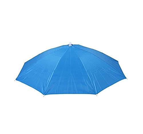 Sombrero de Paraguas de 61 cm de diámetro Banda elástica para Pesca Sombrero Paraguas para Sol, Lluvia, Playa, Golf, Senderismo, Fiesta