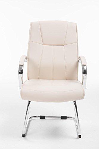 CLP Besucher Freischwinger-Stuhl BASEL V2 mit Armlehne, gepolstert creme - 2
