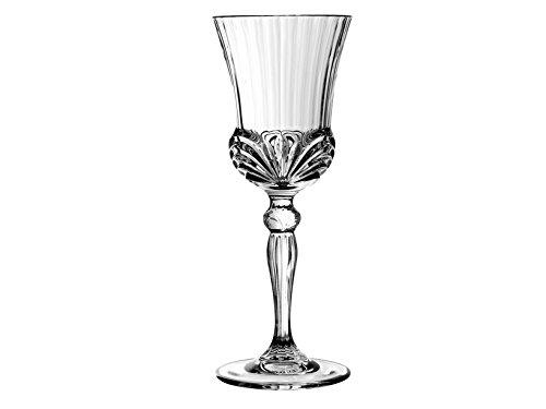 Rcr Aurea Copas para Agua, Vidrio, Transparente, Juego de 6 Piezas, 20