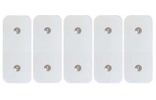 5 x Ersatz-Elektroden für Fitness-Studios, kompatibel mit Gymform Total Abs Platinum -