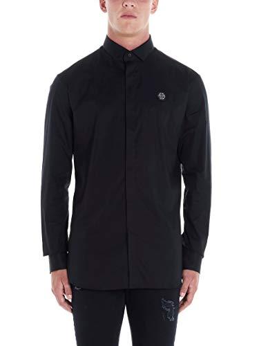 Philipp Plein Luxury Fashion Herren MRP1094PTE012N02 Schwarz Hemd | Herbst Winter 19