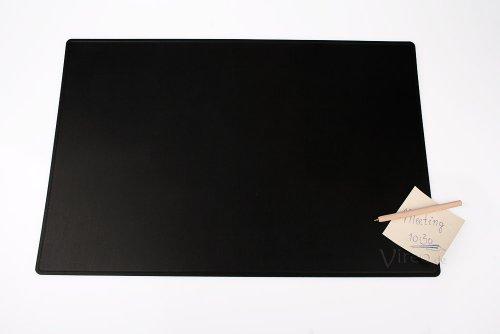 Schreibunterlage 60x40cm schwarz, aus Recycling-Leder