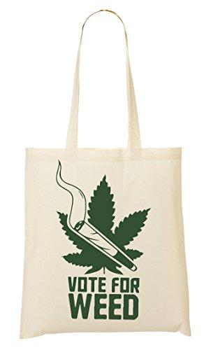 Give Your Vote Weed Tragetasche Einkaufstasche -