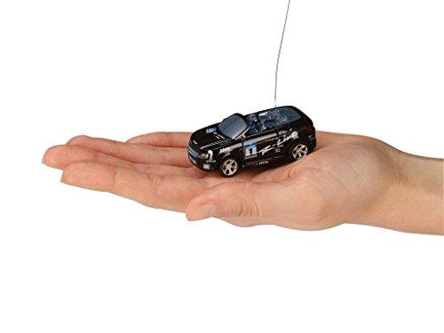 Revell Control 23535 - Mini RC Car in Dosenverpackung, Verpackung ähnelt einer Cola-Dose, kleines ferngesteuertes RC Auto, 40 MHz-Fernsteuerung mit Ladefunktion, Pylonen - Cabrio in schwarz - 4