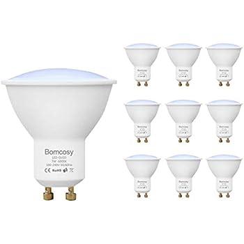 Bomcosy 7W GU10 Bombillas LED 60W Halógenas Equivalente no Regulable Blanco Calido 600 lúmenes Foco Empotrable