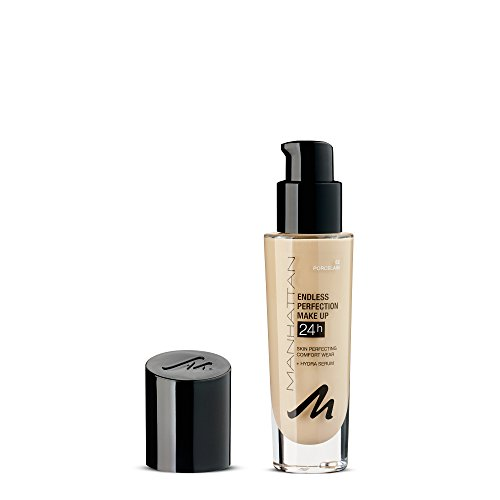 Manhattan Endless Perfection Make-up, Langanhaltende flüssig Foundation mit hoher Deckkraft, Farbe Porcelain 62 (1 x 30ml)