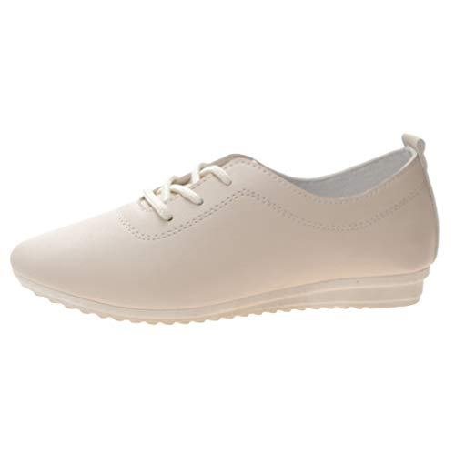 Damen Comfort Round Toe Fläche Slipper, Selou Casual Solid Wild Single Schuhe Frauen Sommer Business Elegant Outdoor Art Pumps Trekking Breite FüßE Schuhe -