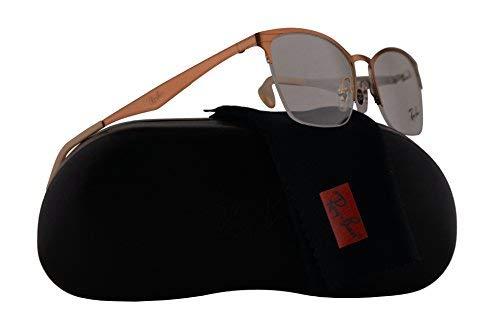 Ray-Ban Unisex-Adult RX6345 Brillen 52-17-135 w/Demo-Raum-Objektiv 2920 RB6345 RB 6345 RX 6345 Silver Top Hellbraun groß