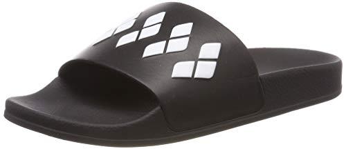 Arena slide, ciabatta per piscina unisex team stripe adulto, nero/bianco, 46