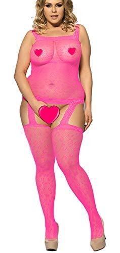 marysgift Blumig Open Crotch Mesh Netz Overall Bodystocking Fishnet Damen Sexy Dessous Catsuit 40 42 44 46 48 50