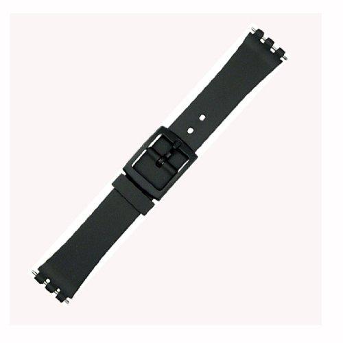 Swatch schwarzes Uhrenarmband aus Kunststoff für Damen und Herren, Größe 14mm, 17mm, 14 mm