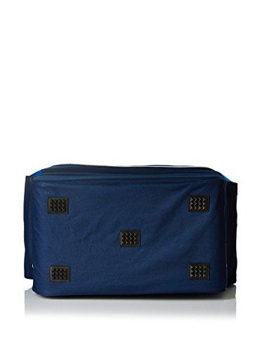 Legea Herren Capri Sporttasche Schultergurt Umhängetasche Fußball Gym 30x50x46 cm (SCHWARZ-GRAU) BLAU-ROYAL