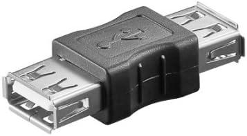 Ewent Adattatore USB 2.0 Tipo A/Femmina, Schermato, Nero