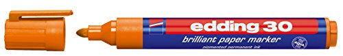edding Pigmentmarker edding 30 brilliant paper marker, 1,5-3 mm, orange