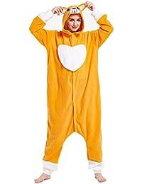 Unisex Animal Pijama Ropa de Dormir Cosplay Kigurumi Onesie Perro Disfraz para Adulto Entre 1,
