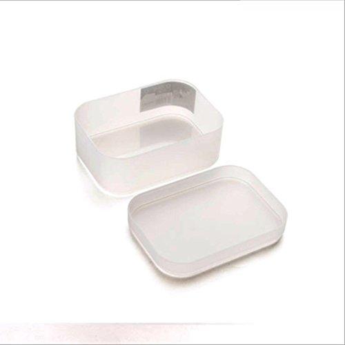 HUPLUE cosmétiques Boîte de Rangement avec Housse de Protection pour Petit Grand Boîtes Plastique Produits de Toilette pour Maison Chambre à Coucher de Salle de Bain Commode Bureau, Blanc, Small