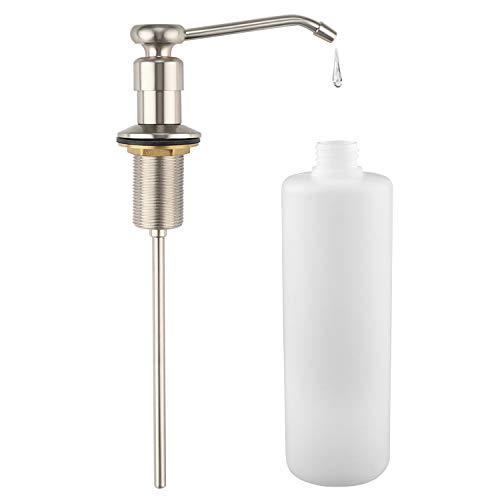LOUYC Seifenspender, integrierter Seifenspender, Pumpe, reiner Kopf aus Kupfer gebürsteter nickel - Biegen Edelstahl Unten Nach Sie