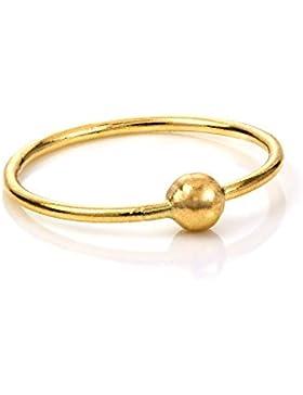 9 Karat Gelbgold BCR (Ball Closure Ring) Hoop Nasenring | 8mm oder 10mm