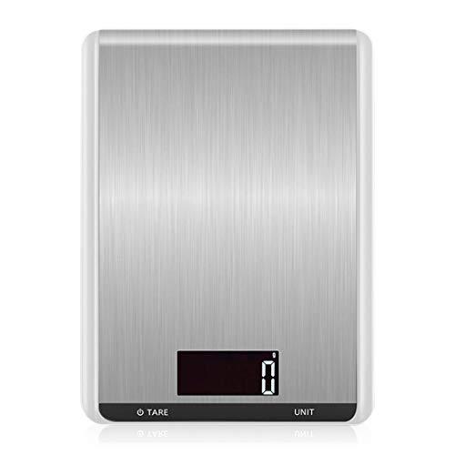 LouiseEvel215 Bilancia Digitale da Cucina Bilancia Elettronica Portatile a LED Bilance per Alimenti Peso in Acciaio Inossidabile Ad Alta precisione Pesare l'equilibrio