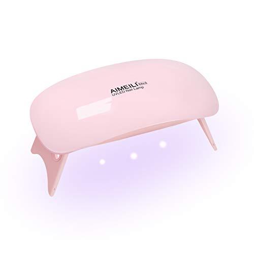 AIMEILI 6W UV LED Nageltrockner Lampe für Gel Nagellack Nail Art Maniküre