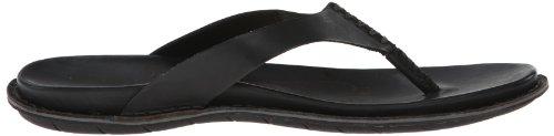 Keen Alman Flip Damen Schuhe Leder Zehentrenner Sommer Sandale schwarz Black