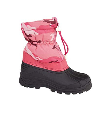 Girls Fleece Lined Camouflage Snow Boots