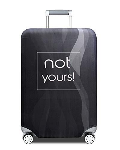 ZIXINGA Proteggi Valigia Suitcase Luggage Cover,18-32 Pollici Coperchio per , Lavabile Viaggio Bagagli Coprire Copri Valigia Copertura per Valigia (Strisce Nere, S)