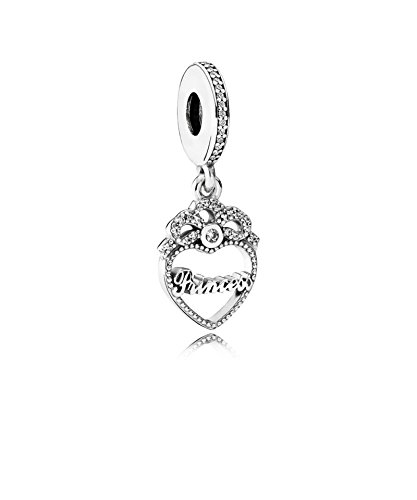 PANDORA - Charm Cuori principessa ciondolo Incoronata 925/1000 argento Pandora 791962CZ