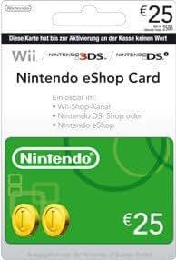 Nintendo Eshop CARD 25€ Carte de Jeu Console compatible Compatible Multi Plateformes