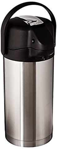 Commercial Grade Jumbo Airpot, 3.5 Liter, Stainless Steel Finish