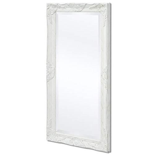 VidaXL Espejo Blanco Pared Estilo Barroco 100x50 cm