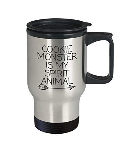Claude6yhAly Cookie Monster MugCookie Monster ist Mein Geist Tier MugInsulated Edelstahl Travel MugLustiger Becher f¨¹r JungsLustiger Becher f¨¹r Frauen