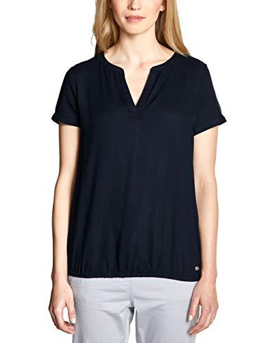 CECIL Damen 341452 Bluse per pack Blau (deep blue 10128), Large (Herstellergröße:L)