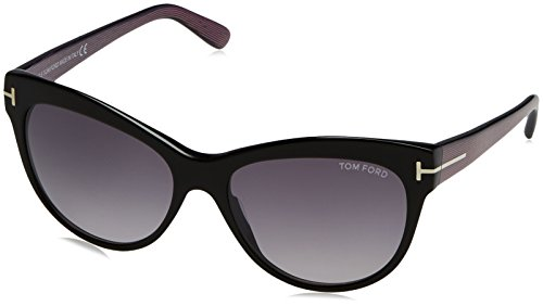 Tom Ford Damen FT0430 05B 56 Sonnenbrille, Schwarz (Nero/Altro/Fumo Grad),