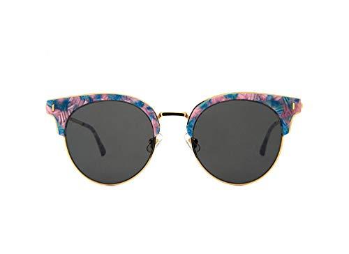 Sonnenbrille,Fashion Designer Cat Eye Sonnenbrille Frauen Die Hälfte Rim Polaroid Sonnenbrille Fahren Die Jalousien Uv400 Schwarz Linsen Pulver Blau Grau
